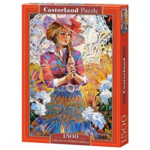 "Castorland (C-151363) - Alexander Lashkevich: ""A Girl with an Openwork Umbrella"" - 1000 pieces puzzle"