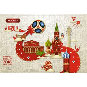"Origami (03808) - ""Moscow, Host city, FIFA World Cup 2018"" - 360 pieces puzzle"