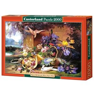 "Castorland (C-200276) - Eugene Bidau: ""Elegant Still Life with Flowers"" - 2000 pieces puzzle"