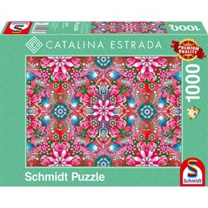 """Schmidt Spiele (59586) - Catalina Estrada: """"Red Rosebush"""" - 1000 pieces puzzle"""
