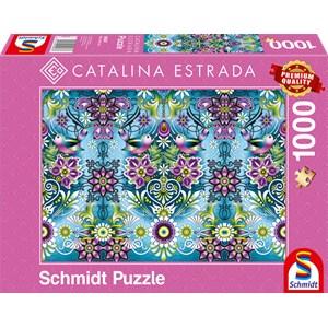 "Schmidt Spiele (59587) - Catalina Estrada: ""Blue Sparrow"" - 1000 pieces puzzle"