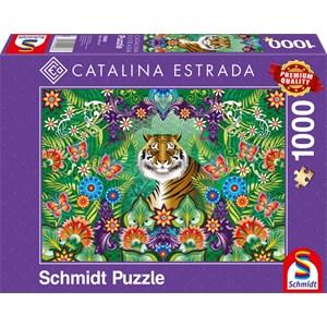 "Schmidt Spiele (59588) - Catalina Estrada: ""Bengal Tiger"" - 1000 pieces puzzle"