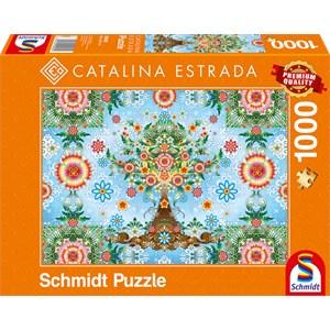 "Schmidt Spiele (59589) - Catalina Estrada: ""Colorful Tree"" - 1000 pieces puzzle"