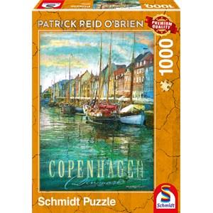 """Schmidt Spiele (59583) - Patrick Reid O'Brien: """"Copenhagen"""" - 1000 pieces puzzle"""