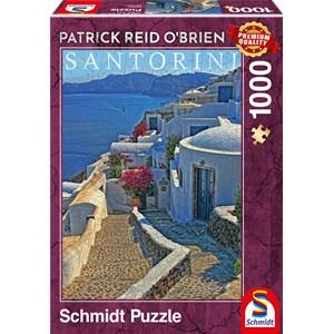"""Schmidt Spiele (59584) - Patrick Reid O'Brien: """"Santorini"""" - 1000 pieces puzzle"""