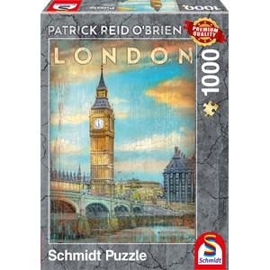 """Schmidt Spiele (59585) - Patrick Reid O'Brien: """"London"""" - 1000 pieces puzzle"""