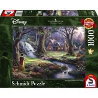 """Schmidt Spiele (59485) - Thomas Kinkade: """"Snow White"""" - 1000 pieces puzzle"""