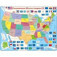 """Larsen (K12-RU) - """"United States of America"""" - 48 pieces puzzle"""