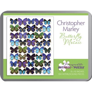 """Pomegranate (AA798) - Christopher Marley: """"Butterfly Mosaic"""" - 100 pieces puzzle"""