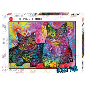 """Heye (29864) - Dean Russo: """"Devoted 2 Cats"""" - 1000 pieces puzzle"""