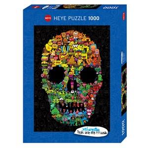 "Heye (29850) - Jon Burgerman: ""Doodle Skull"" - 1000 pieces puzzle"