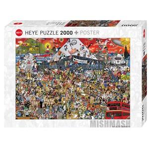 """Heye (29848) - Alex Bennett: """"British Music History"""" - 2000 pieces puzzle"""