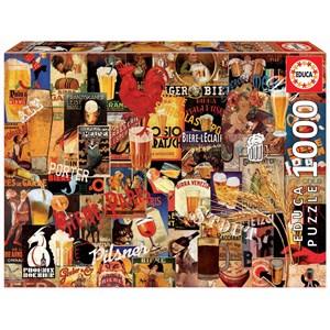 """Educa (17970) - """"Vintage Beer Collage"""" - 1000 pieces puzzle"""