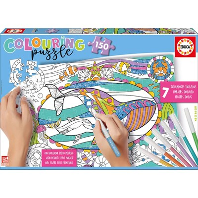 "Educa (17827) - ""Sea Life Colouring Puzzle"" - 150 pieces puzzle"