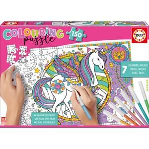 """Educa (17828) - """"Unicorn Colouring Puzzle"""" - 150 pieces puzzle"""