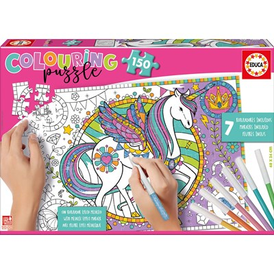 "Educa (17828) - ""Unicorn Colouring Puzzle"" - 150 pieces puzzle"