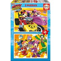 "Educa (17239) - ""Mickey and the Roadster Racers"" - 48 pieces puzzle"