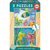 "Educa (17617) - ""Aquatic animals"" - 9 pieces puzzle"