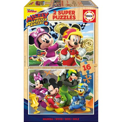 """Educa (17622) - """"Mickey and the Roadster Racers"""" - 16 pieces puzzle"""