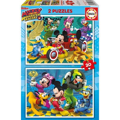 "Educa (17631) - ""Mickey and the Roadster Racers"" - 20 pieces puzzle"