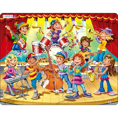 "Larsen (US42) - ""Kids Band"" - 32 pieces puzzle"