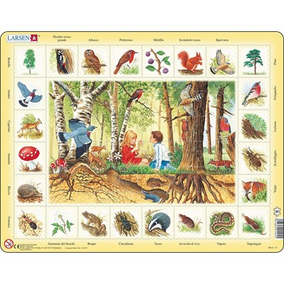 "Larsen (NA4-IT) - ""Forest (in Italian)"" - 48 pieces puzzle"