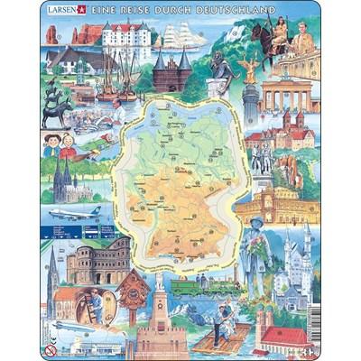 """Larsen (KS2-DE) - """"Landmarks of Germany (in German)"""" - 80 pieces puzzle"""