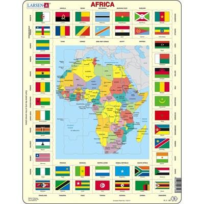 """Larsen (KL3-GB) - """"Map/Flag, Africa"""" - 70 pieces puzzle"""