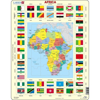 "Larsen (KL3-GB) - ""Map/Flag, Africa - GB"" - 70 pieces puzzle"