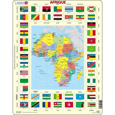 "Larsen (KL3-FR) - ""Map/Flag, Africa - FR"" - 70 pieces puzzle"