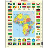 "Larsen (KL3-FR) - ""Map/Flag, Africa (in French)"" - 70 pieces puzzle"