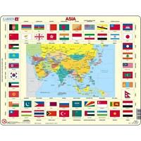 "Larsen (KL2-GB) - ""Map/Flag, Asia"" - 70 pieces puzzle"
