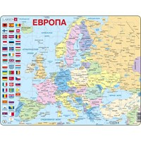 "Larsen (A35-RU) - ""Europe (in Russian)"" - 70 pieces puzzle"