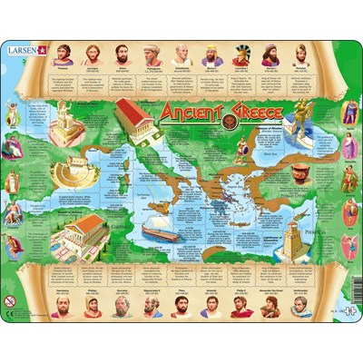 "Larsen (HL6-GB) - ""Ancient Greece"" - 95 pieces puzzle"