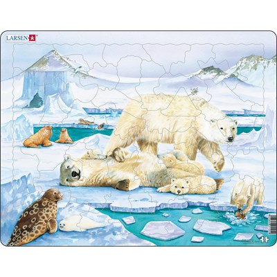 "Larsen (FH5) - ""Polarbear"" - 54 pieces puzzle"