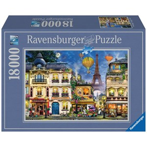 "Ravensburger (17829) - ""Evening Walk in Paris"" - 18000 pieces puzzle"