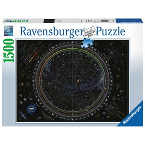 """Ravensburger (16213) - """"Map of the Universe"""" - 1500 pieces puzzle"""