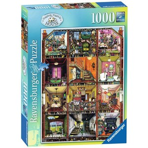 "Ravensburger (19293) - Colin Thompson: ""Higgledy Piggledy House"" - 1000 pieces puzzle"