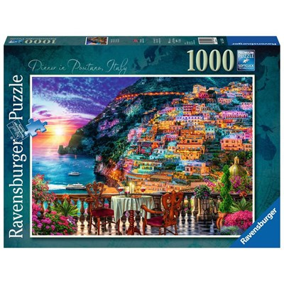 "Ravensburger (15263) - Lars Stewart: ""Dinner in Positano, Italy"" - 1000 pieces puzzle"