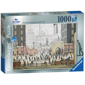 """Ravensburger (19748) - L. S. Lowry: """"Lowry Coming From the Mill"""" - 1000 pieces puzzle"""