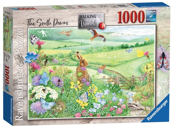 "Ravensburger (15176) - Anne Searle: ""Walking World, South Downs"" - 1000 pieces puzzle"