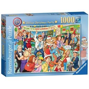 "Ravensburger (19769) - Geoffrey Tristram: ""Office Christmas Party"" - 1000 pieces puzzle"