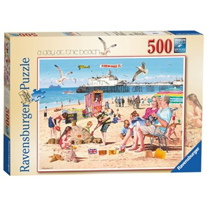 "Ravensburger (14753) - Andy Walker: ""A Day at the Beach"" - 500 pieces puzzle"