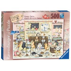 "Ravensburger (14794) - Linda Jane Smith: ""Kitty's Cakes"" - 500 pieces puzzle"