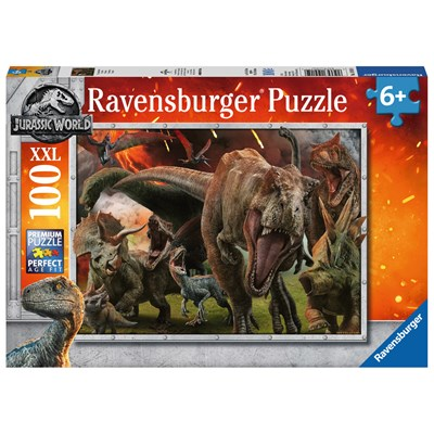 "Ravensburger (10915) - ""Jurassic World Fallen Kingdom "" - 100 pieces puzzle"