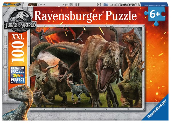 "Ravensburger (10915) - ""Jurassic World Fallen Kingdom"" - 100 pieces puzzle"