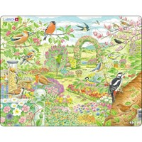"Larsen (FH37) - ""Garden birds and flowers"" - 60 pieces puzzle"