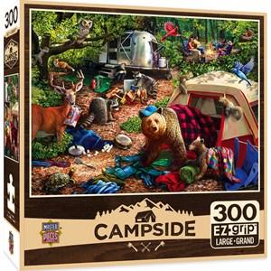 """MasterPieces (31997) - Larry Jones: """"Campsite Trouble"""" - 300 pieces puzzle"""
