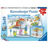 "Ravensburger (08052) - ""On the Ski Slope"" - 49 pieces puzzle"