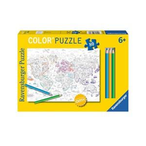 """Ravensburger (10735) - """"Atlas"""" - 80 pieces puzzle"""